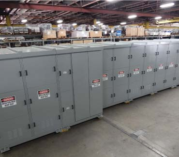 Switchgear Lineup on Production Floor